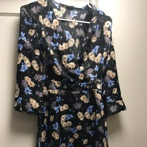 Zara Floral Long Sleeve Dress